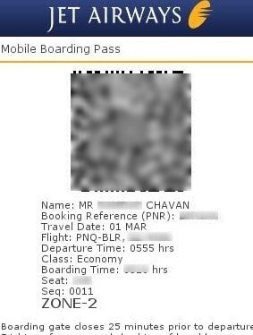 boarding pass of family outing
