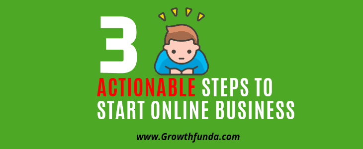 Here are the actionable steps to start online business in India