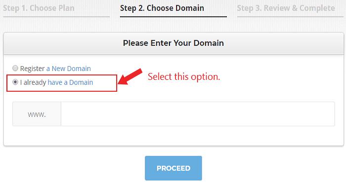 choose domain name to create website