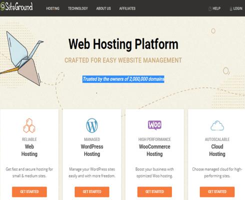 start website with siteground web hosting