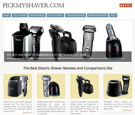 Pickmyshaver website